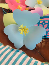 homemade luau party paper flowers design sprinkle