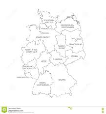 Bavaria Germany Map by Map Of Germany Divided To Federal States Stock Vector Image