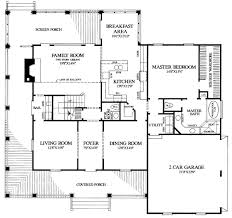 house plans with big porches floor plan of country farmhouse southern house plan 86162