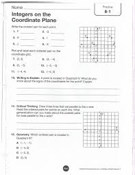 Graphing Ordered Pairs Worksheet Integers Homework 7th U0026 8th Grade Math With Ms Maguire 2017 2018