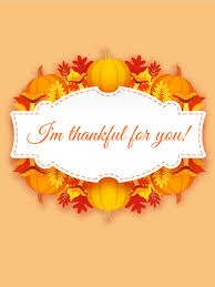 i m always thankful thanksgiving day card you re thankful for