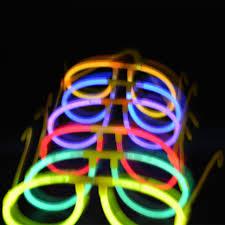 glow party 2018 new neon luminous glow sticks eyeglasses birthday party