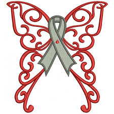 wings cure diabetes ribbon filled machine embroidery design
