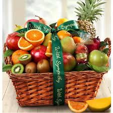 sympathy fruit baskets with sympathy tropical abundance fruit basket