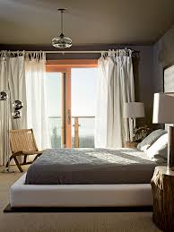 looking upholstered platform bed in bedroom rustic with athens