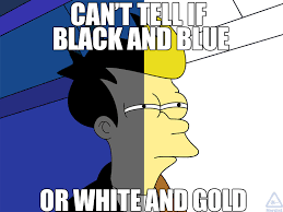 Blue Meme - can t tell if black and blue or white and gold memes