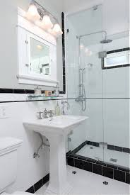vintage black and white ny bathroom bathrooms pinterest old