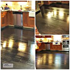 floors a kitchen s stained black floor a modern look when
