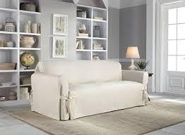 2 piece t cushion sofa slipcovers serta cotton duck box cushion sofa slipcover u0026 reviews wayfair