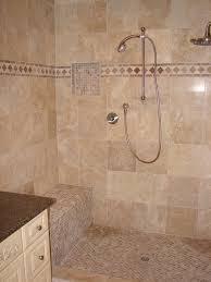 Tile Vanity Top Bathroom Decoration Using Cream Pebble Tile Bathroom Flooring