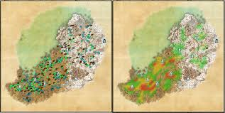 Deshaan Treasure Map Harvestmap Esoheadmarkers Map Coords Compasses Elder