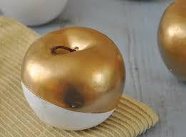 diy crafting golden apples centerpiece youtube