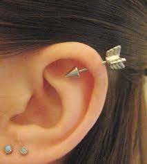bar earring cartilage one 16 arrow earring ear jewelry piercing 3d arrowhead
