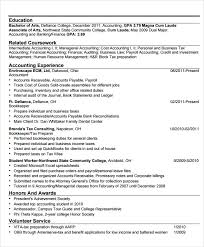 Tax Accountant Resume Sample by Sample Accounting Resume 6 Documents In Pdf