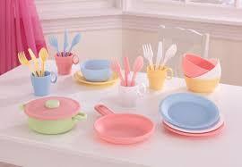 geschirr kinderküche kidkraft 27 teilige geschirr set pastell für spielküche kaufen