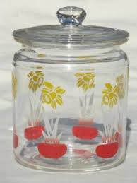 vintage glass canisters kitchen pantry storage canisters spice jars
