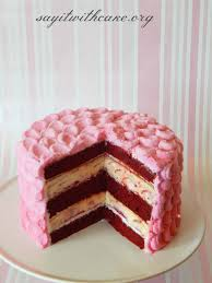 red velvet raspberry swirl cheesecake cake say it with cake