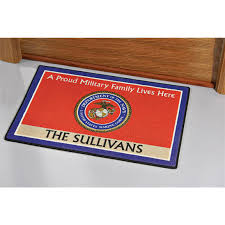 Outdoor Rugs Mats by Personalized Military Doormat 118843 Outdoor Rugs At