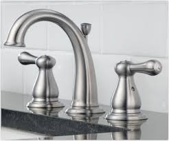 delta 3575lf ss leland two handle widespread bathroom faucet