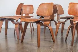 set of six 1960s walnut eames dcw chairs at 1stdibs