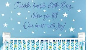 Boy Nursery Wall Decals by Baby Boy Nursery Wall Saying Wall Decal Vinyl Wall Lettering