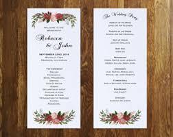 Wedding Pamphlet Template Fall Wedding Program Etsy