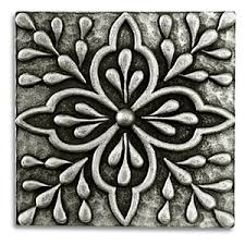 decorative tile inserts kitchen backsplash www metalfocustile pewter tile florentine imag