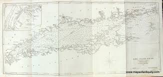 Nautical Maps Long Island Sound Blunt Chart Sold Antique Maps And