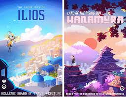 travel posters images Overwatch travel posters jpg