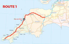 Scenic Route Map by Get Off The Motorway Alternative Scenic Routes Into Cornwall