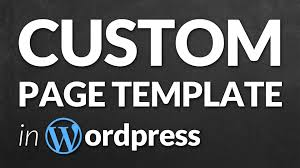 create a custom page template in wordpress step by step youtube