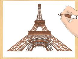 how to draw the eiffel tower 14 steps with pictures wikihow