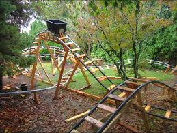 roller coaster for backyard retired grandpa uses free time to build backyard roller coasters
