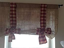 Tie Up Valance Curtains Km Curtains Burlap Tie Up Valance With Burgundy