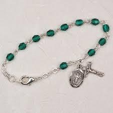 rosary bracelet emerald birthstone rosary bracelet the catholic gift shop