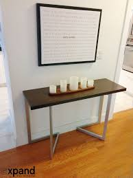 Expandable Console Table by Transforming Console To Table Expand Furniture