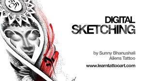digital sketching buddha tattoo design time lapse youtube