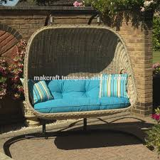 poland outdoor garden fashion natural wicker hanging swing chair