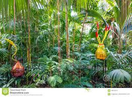 Atlanta Botanical Gardens by Exhibition Of Glass Artist Chihuly In Atlanta Botanical Garden