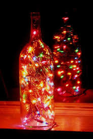 Christmas Patio Lights by Clear Wine Bottle Light With Multi Colored Lights U2013 Wine Bottle