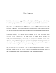 an internship report on library operations and services of dhaka univ u2026