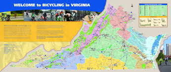 virginia map bicycling and walking in virginia