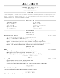 sample resume for hotel resume for your job application