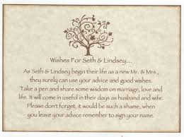 wedding wishes and advice cards wedding wish tree tags advice cards sign