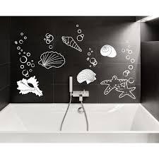wandtattoos badezimmer wandtattoo muscheln