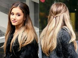 color ombre brown and blonde hair color with long hairstyles