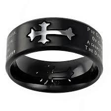 cross rings silver images Armor of god black neo cross ring st neo aog blk men 39 s rings jpg