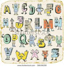 Letters Designs For - fantastic alphabet wacky doodle letters stock vector