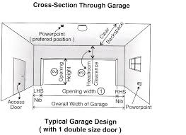 Garage Measurements What Is The Standard Width Of A Double Garage Door Wageuzi