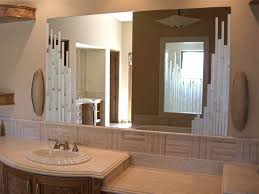 Custom Bathroom Mirror Vertical Mosaics Custom Mirrors Sans Soucie